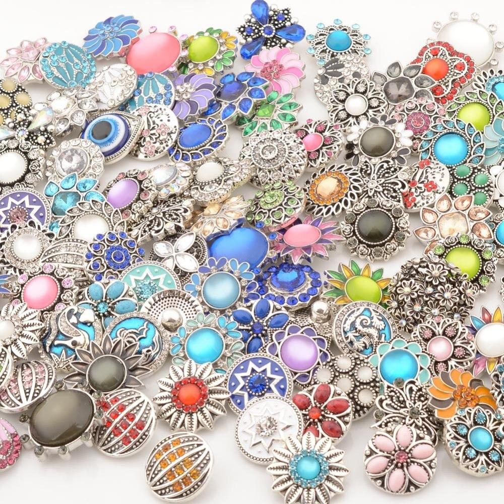 10 шт./лот высокое качество Mix Металл очарование 18 мм кнопки для женщин DIY Кнопка Jewelry NC-MIX