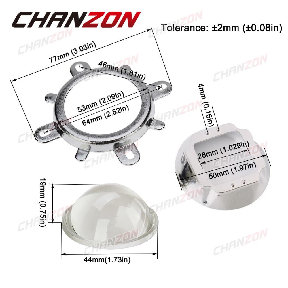 1 juego Cristal óptico de lente LED de 44 mm 60 grados + 50 mm - Instrumentos de medición - foto 4