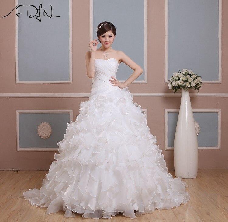 Adln alta calidad corsé vestidos de novia vestidos de novia una línea de novia d