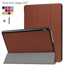 Dla HUAWEI MediaPad T3 10 9.6 skrzynki pokrywa dla Huawei Honor Play Pad 2 9.6 stojak na tablet skórzane Fundas + rysik
