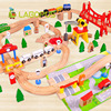 Lagopus 100 Pieces Of Educational Toys Wooden Toys Wooden Suits Small Train Tracks Children Early Education