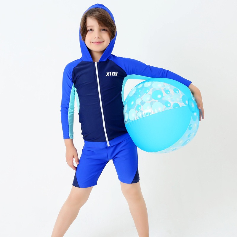 27859a18cc 2-16 Years Kids Swimwear for Teenagers Boys Sun Protection Long-sleeved  Baby Boy