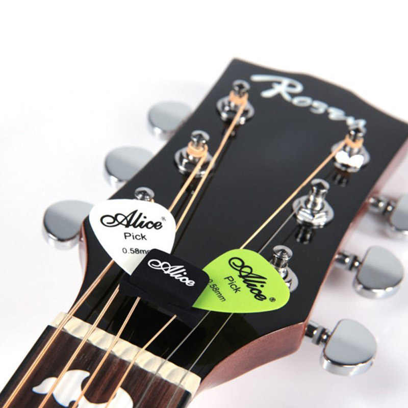1 قطعة أليس المطاط الغيتار اختيار حامل ل الصوتية الكهربائية الكلاسيكية الغيتار/باس/متوترة الآلات الموسيقية