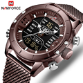NAVIFORCE Top Luxus Marke Männer Sport Uhren Herren Voller Stahl Quarz Digitale Uhr Mann Wasserdichte Armbanduhr Relogio Masculino auf