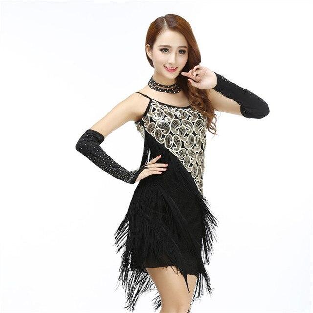 Franja de lentejuelas correa de espagueti dress woman vintage 1920's gran gatsby flapper partido clubwear sexy baile latino correa de mini dress