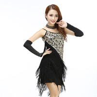 Fringe Sequined Spaghetti Strap Dress Woman Vintage 1920 S Great Gatsby Party Flapper Sexy Clubwear Strap