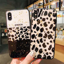 Leopard-Print Marble Epoxy Gold Foil For Iphone 6 6S 7 8plus X Xs Xr Max