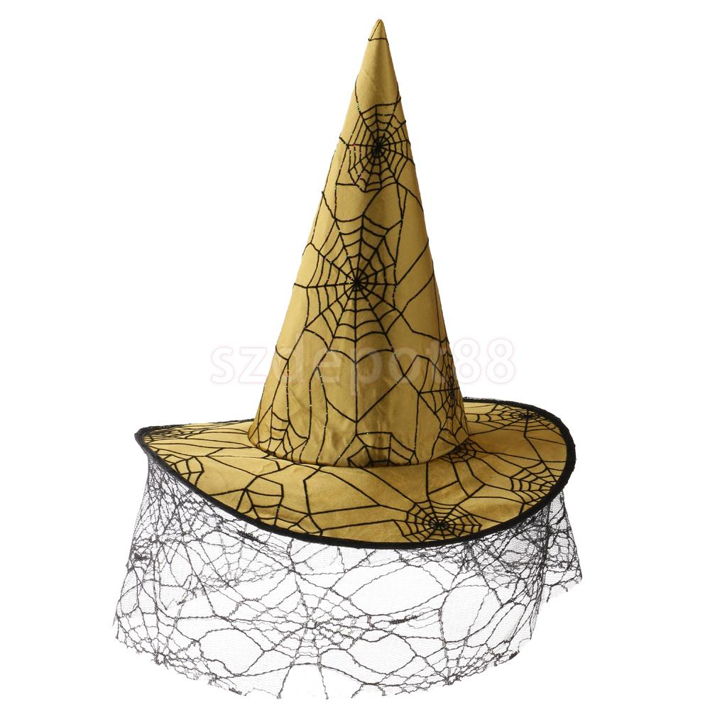 Wizard Wicked Witch Hat Kids Adult Halloween Fancy Dress Cosplay Costume Accessories