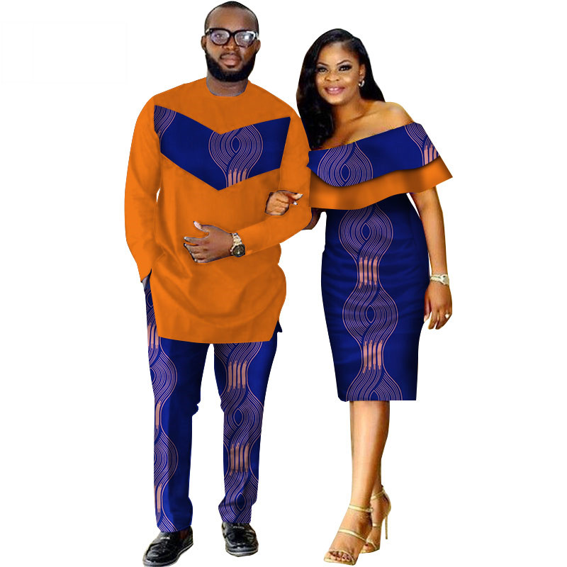 African-Dashiki-Print-Couple-Clothing-for-Lovers-Two-Piece-Set-Men-s-Suit-Plus-Women-s(11)