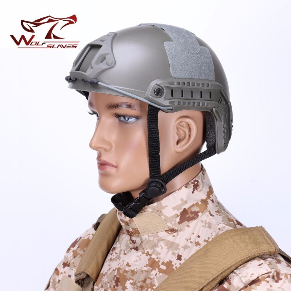 Protetor de Cabeça Militar do Exército de Airsoft Caça ao ar Rápido Edição Padrão Tático Capacete Leve Wargame Livre Acessórios mh
