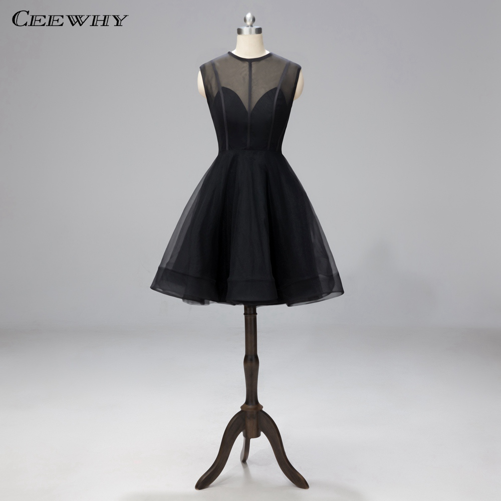 CEEWHY A Line Little Black   Dress   Short Prom   Dresses   2019 Robe   Cocktail     Dresses   Graduation   Dresses   Vestidos de Fiesta