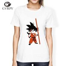 Brand Dragon Ball Z T Shirt for Women Fashion Casual T-shirt Short Sleeve Cotton Goku Anime Cosplay t-shirt Homme Harajuku S-XL