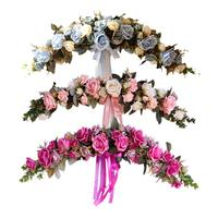 Artificial Flowers For Home Garden Lintel Decoration Pink Peonies Fake Flowers DIY Wedding Party Decoration Door Backdrop Flower