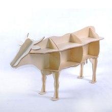 Творческий Nordic Украшения Европейской моды творческие художественные ремесла деревянные Украшения Дома Австралии крупного рогатого скота корова БЫК милые сувениры подарок