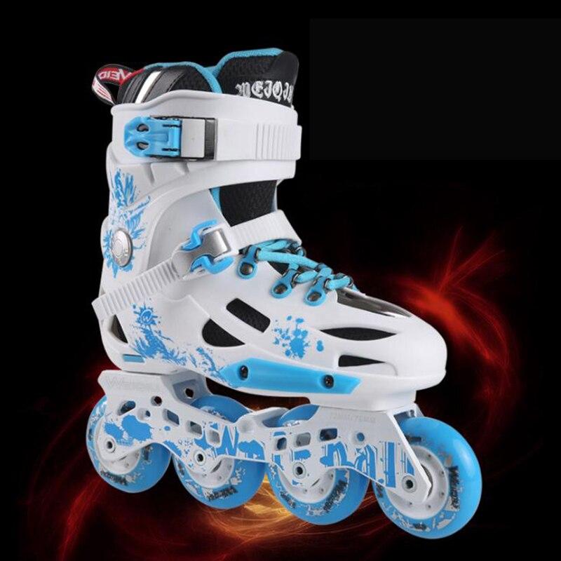 Professionnel anti-Usure respirant haute vitesse patins à roues alignées patins à roulettes chaussures 4 roues en plein air adultes hommes femmes de patinage