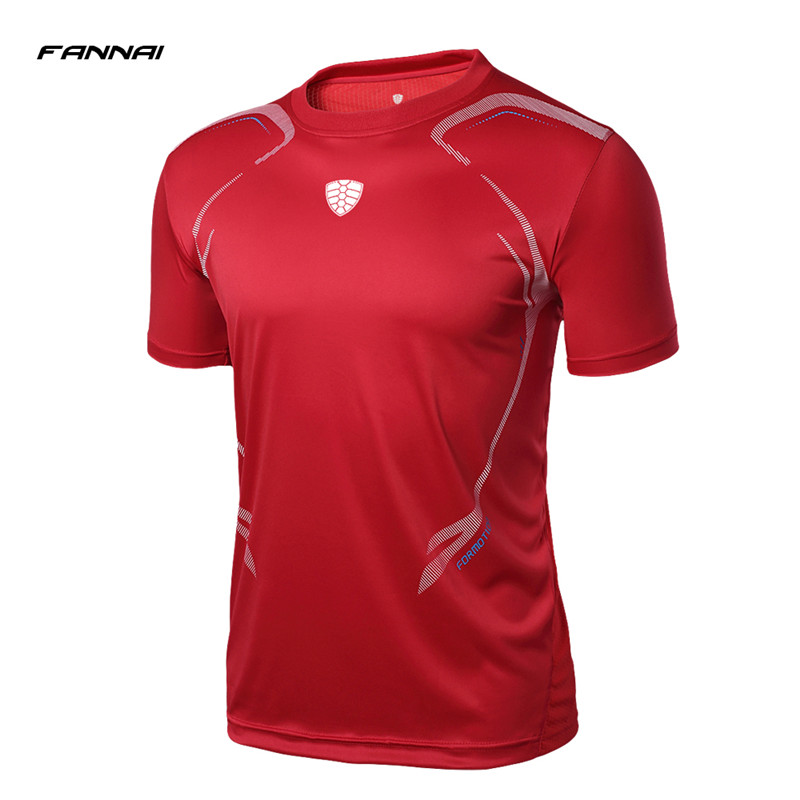 FANNAI Brand Mens Tennis Shirts Outdoor Running Sports Workout Clothing Badminton Male T-shirt Table Tennis Clothes Tees Tops