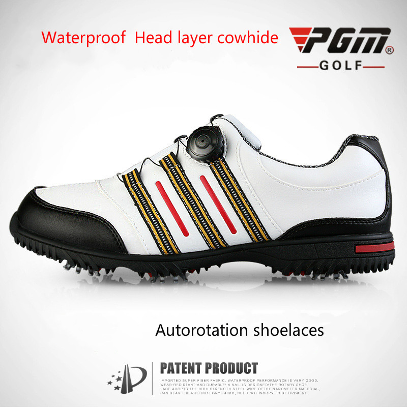 PGM golf shoes PGM GOLF shoes men's brand nail rotary locking device simulation mini golf course display toy set with golf club ball flag