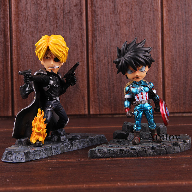 Snitch King Cos Avengers One Piece Sanji Cosplay Nick Fury Luffy Cosplay Captain America Action Figure PVC Collectible Model Toy 1