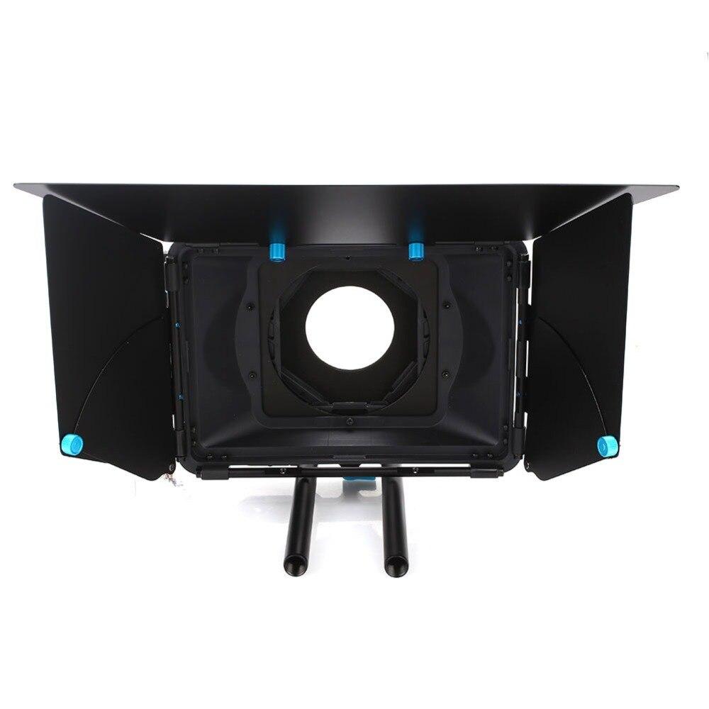 цены Cewaal Hex Wrench Metal Camera Sunshade Rail Protector Matte Box Effective Anti Glare Camera Hood Accessories for FOTGA