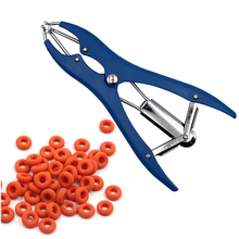Farm Animal Pig Sheep Tail Docking Clamp Plastic Castration Pliers And Tail Docking Rubber Rings Tail Device Free Shipping