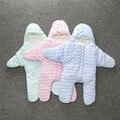 INS Hotsale Inverno Saco de Dormir Do Bebê Infantil Crianças Carrinho De Criança Swaddle Do Bebê Do Algodão da Forma da Estrela Quente Chevron Cobertor Da Cama 81334