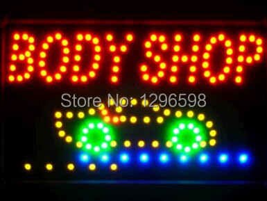 2017 Direct Selling custom Graphics indoor Ultra Bright 10X19 inch car body care store sign of led-