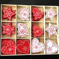 New Year 2020 Christmas Snowflake Wooden Pendant Xmas Tree Decorations for Home Wood Hanging Crafts Navidad 2019 Noel Natal Deco 2