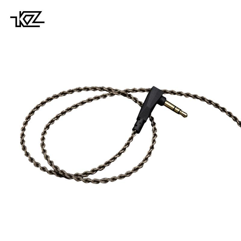 KZ ZSA/ZS3/ZS4/ZS5/ZS6 1,2 Mt Hochreiner Sauerstoff Freies Kupfer Headset Versilbert draht 0,75mm Pin Upgrade Für Original