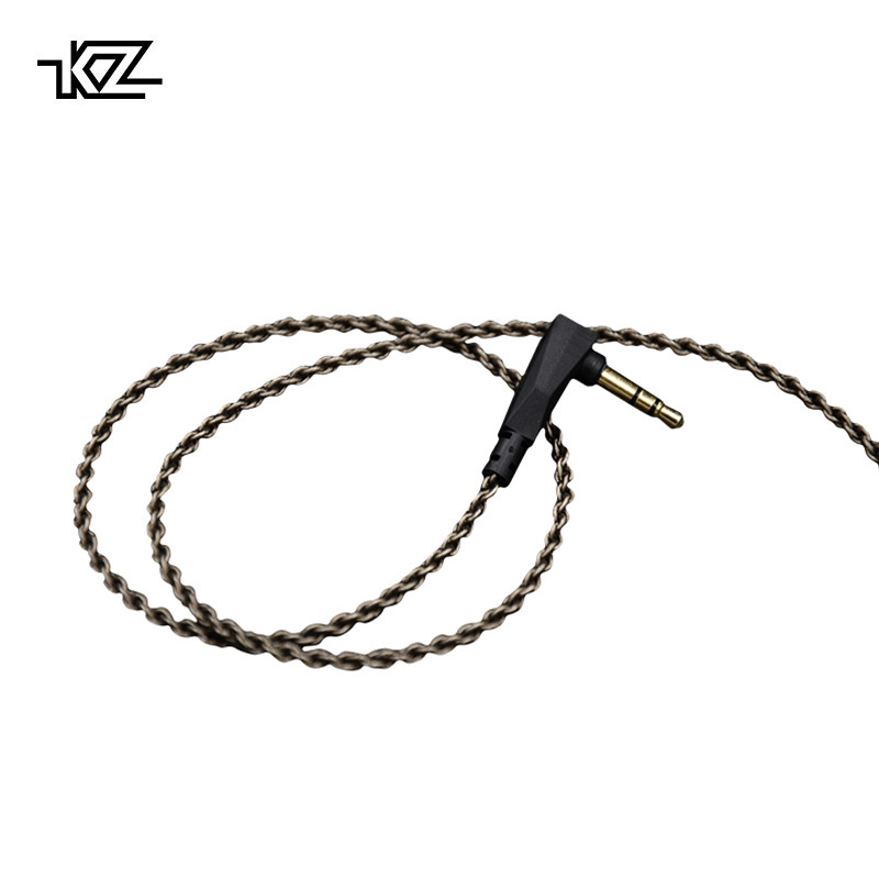KZ ZSA/ZS3/ZS4/ZS5/ZS6 1.2M High Purity Oxygen Free Copper Headset Silver Plated Wire 0.75mm Pin Upgrade Cable For Original free shipping upgrade silver plated 2 pin iem cable without mic headphone wires 0 78mm pin diameter