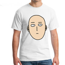 Fashion Men's Casual T Shirts Saitama One Punch Man Printed 100% 180g Combed Cotton Geek Tees Brand Clothing Customized