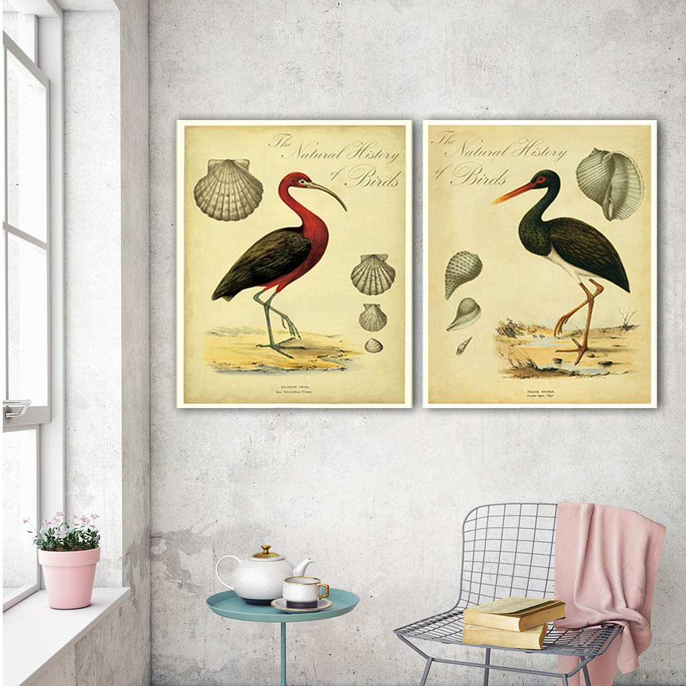 Hot sells 2panels one set Painting Canvas Living Room the birds ...