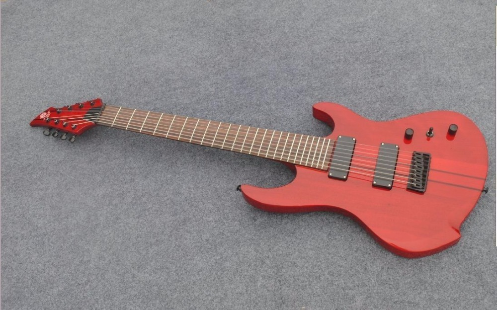 new brand 8string electric guitar with thru neck in guitar from sports entertainment on. Black Bedroom Furniture Sets. Home Design Ideas