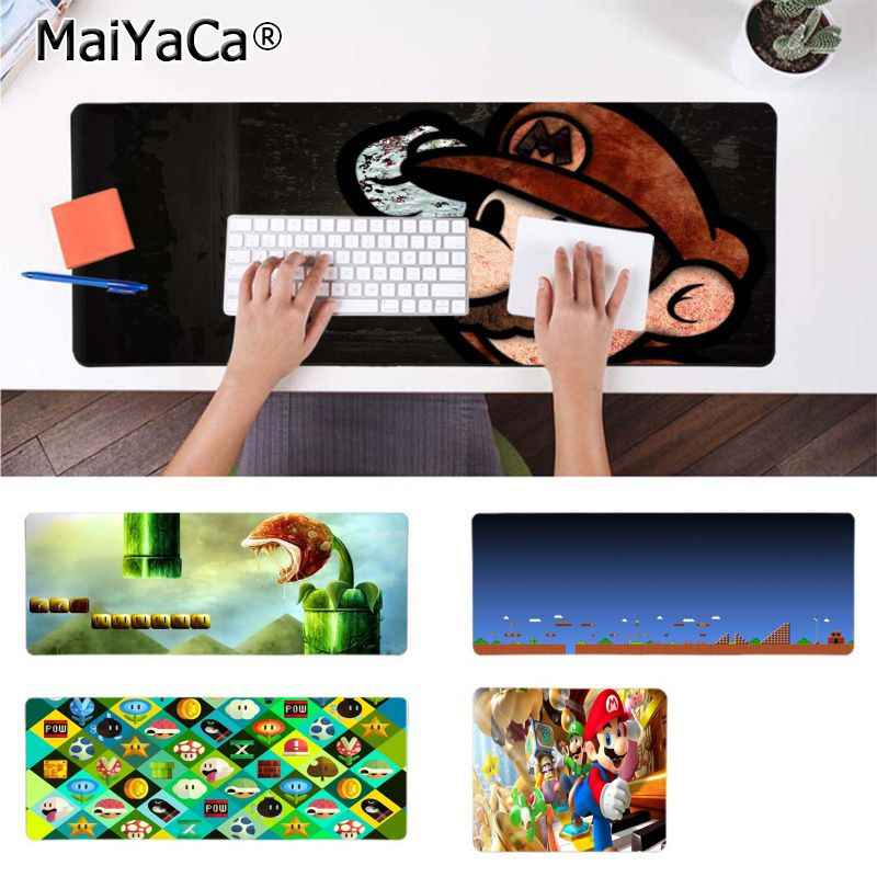 MaiYaCa Hot Sales Cartoon mario Computer Gaming Mousemats Durable Rubber Mouse Mat Pad