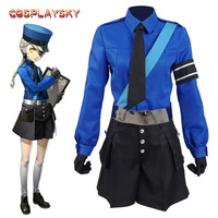 Persona 5 Justin Cosplay Costume P5 New Women Suit School Uniform Party Dress With Hat Full