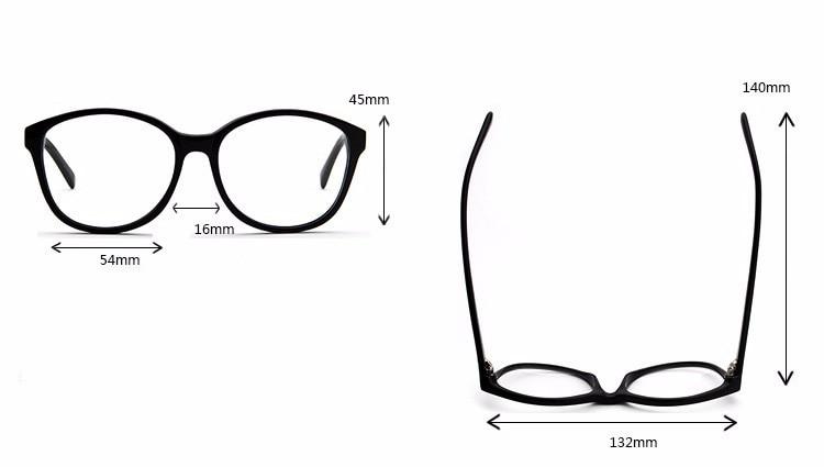 Best качество Новинка года Горячие для женщин Мода очки ацетат рамки рецепт Близорукость Оптические очки коробка для объектива чехол