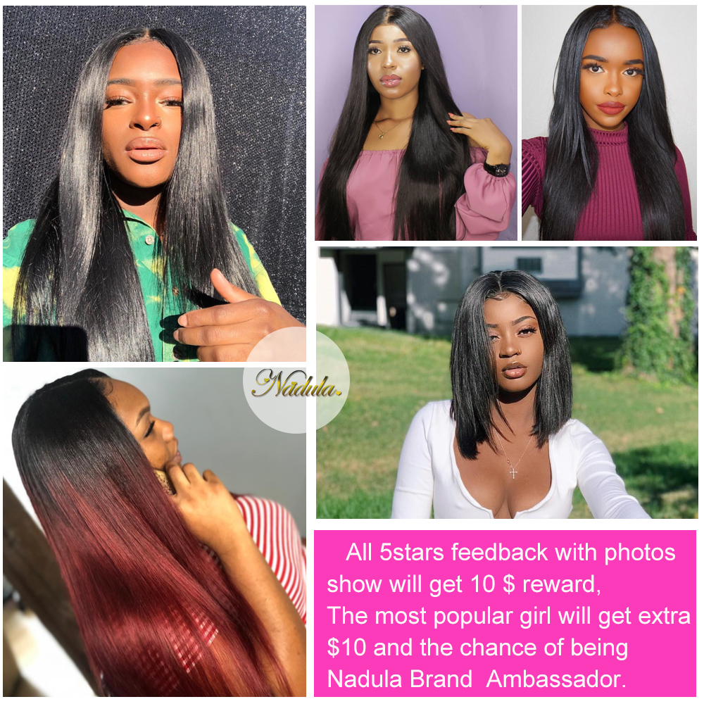 Nadula Hair 1pcs/3Bundles/4 Bundles  Straight Hair s 100%  Bundles 8-30inch 100g  Hair  5