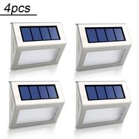 4pcs Lot LED Solar Lamp Waterproof IP65 Solar Light Power Garden LED Solar Light Outdoor ABS