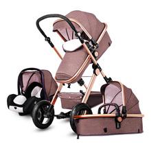 Baby font b Stroller b font 3 in 1 With Car Seat High Landscope Folding Baby