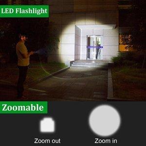 Image 5 - Ngoài Trời LED Đèn Pin Siêu T6/L2 Siêu Sáng Tập Trung Zoom Đèn Pin Với Pin + Tặng 1 Đèn Pin Mini + Sạc dành Cho Cắm Trại Tặng