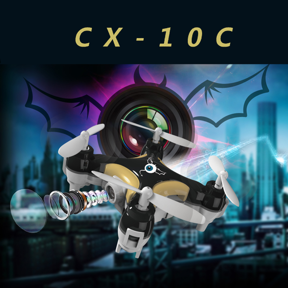 2016 New  Quadcopter CX-10C CX10C Mini RC Drone Updated Version With 0.3MP HD Camera 2.4G 4CH 6-Axis Helicopter Toys f09166 10 10pcs cx 20 007 receiver board for cheerson cx 20 cx20 rc quadcopter parts
