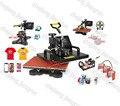 7 EN 1 T camisa/de la Taza/Del Casquillo/Placa/Mouse Pad/Iphone Case Impresora, Combo Máquina de Prensa de calor, impresora, Máquina de Transferencia de calor