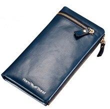 Rindsleder Männer Brieftaschen Luxusmarke Aus Echtem Leder Kupplung Brieftaschen Aus Echtem Leder Lange Geldbörse Tasche Männlichen Geldbörse Berühmte Designer Brieftasche