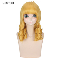 Ccutoo 35 Purple Black Blue Short Straight Bobo Hairstyles Synthetic Cosplay Full Wigs Heat Resistance Party