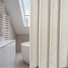New Fashion Plaid Shower Curtain Polyester Mildew Resistant Bath Curtain Waterproof Heat Resisting Bathroom Curtain Wholesale