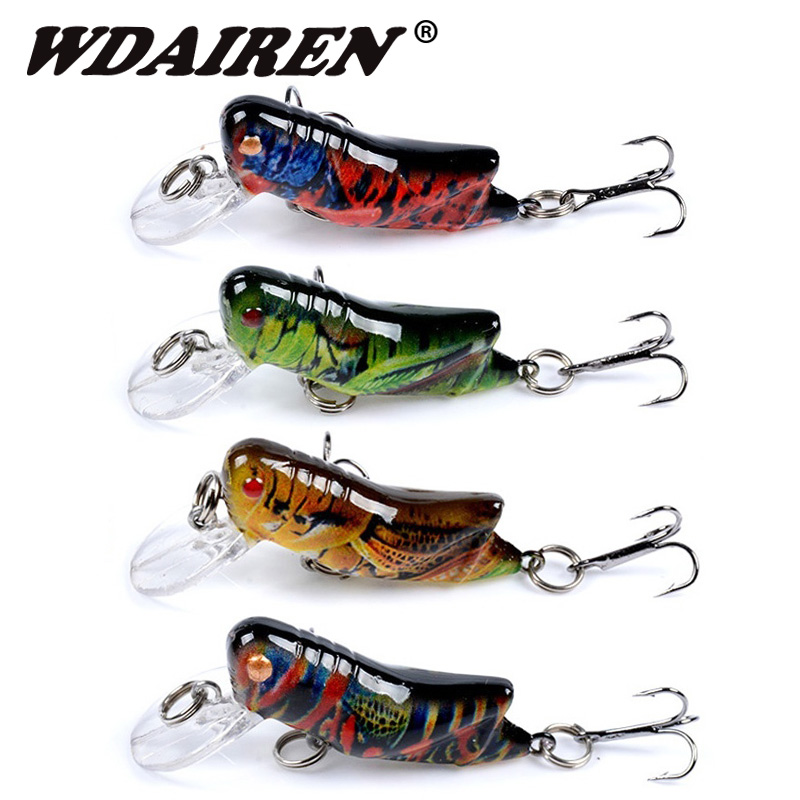 Sea Fishing Tackle Flying Fishing Lures Jig Wobbler Lure Grasshopper Insects  Jl