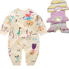 Zestaw ubrań dla niemowląt pajacyki + 3 szt Śliniaki dla niemowląt zestawy dla noworodków dziewczęce chłopięce garnitury 0-12 miesięcy (śliniaki losowo mieszane) tanie tanio ZSXPMORE Nowość COTTON Suknem REGULAR O-neck Unisex Płaszcz Pasuje prawda na wymiar weź swój normalny rozmiar Dziecko