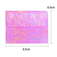 Vinyls Laser Hollow Stencil Nail Stickers