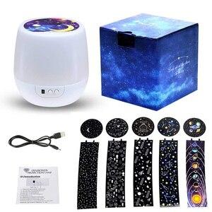 Image 5 - Luz de noche LED Luna lámpara Estrella proyector Luminaria océano universo cielo constelación cumpleaños luces para Navidad Año Nuevo regalos