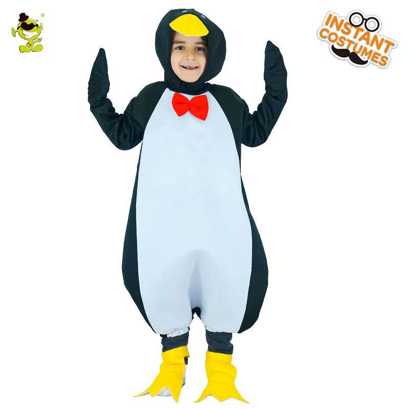 Unisex New Design cute Penguin Costume Lovely Girls&Boys Halloween Fancy Dress Kids Cosplay Outfits Clothings For Carnival Party