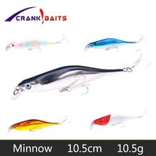 CRANK BAITS Minnow 1Pcs 10.5cm 10.5g Popper Fishing Lures 3D Eyes Bait Wobblers Isca Poper Pesca Japan fishing tackle YB89